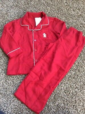 Gymboree Boys JOYFUL HOLIDAY Red Gingerbread Pjs Christmas Cookie Nwt Size M 7 8