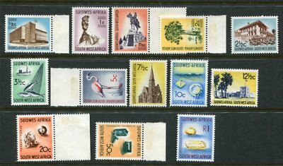 SOUTH WEST AFRICA 1961-63 Definitives MNH to 1R 13 Stamps