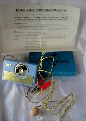 Lovely Vintage PET Crystal Pocket Radio In Original Box With Instructions