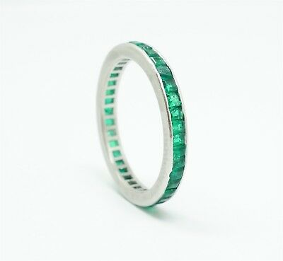Vintage 1920s/30s Art Deco Platinum Emerald Anniversary Band For Restoration