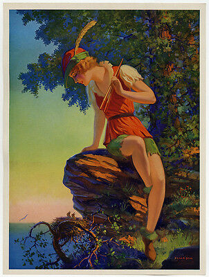 Vintage 1930s Art Deco Edward Eggleston Fine Pin-Up Print Fantasy Myth Peter Pan