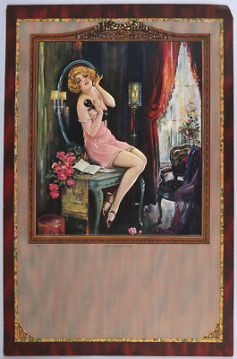 Erotic Boudoir Poster a Message of Appreciation Flapper Girl in Love on Phone