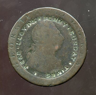 Great Britain Penny ~ Engraved: Read Lloyd's Penny Sunday Times