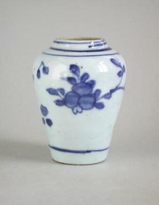 Fine Small Chinese Transitional Blue & White Porcelain Jar