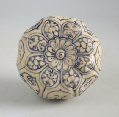 Vietnamese 15th Century Blue & White Octagonal Covered Box
