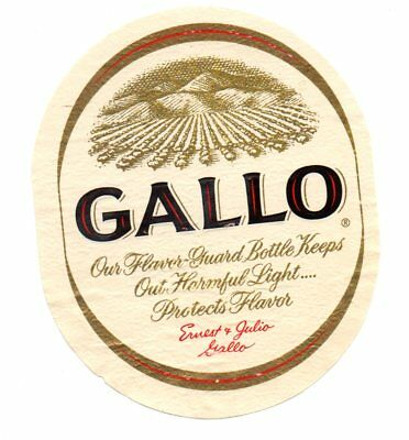 1940s ERNEST & JULIO GALLO WINE COMPANY, MODESTO, CALIFORNIA WINE LABEL