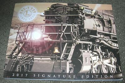 LIONEL 2017 TRAIN CATALOG SIGNATURE EDITION O GAUGE train dealer book NEW