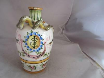 Antique Italian  Faience Coiled Snake Vase