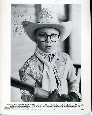 Peter Billingsley Signed Photo In Role From A Christmas Story
