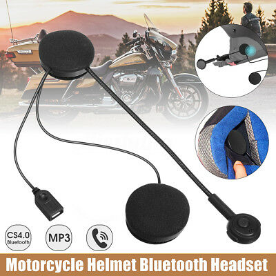 Motorcycle Helmet Bluetooth Motorbike Handsfree Headset Headphone for Music Play