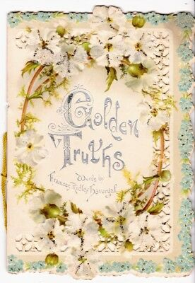 Golden Truths by Frances Havergal Card - advertising Capital Coffee 1894