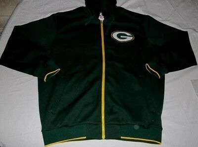 86d387d9b Green Bay Packers Full Zip Hooded Jacket XL Green Embroidered Logos G-III  NFL