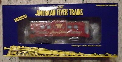 "New American Flyer Gilbert Santa Animated Caboose   S Gauge 3/16"" Scale 2008"