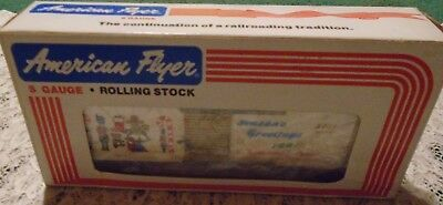 New American Flyer 1991 Christmas Boxcar #6-48311 S Gauge Rolling Stock $69.00