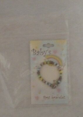 Baby's First Bracelet BABY GIFT Christening Shower Newborn Colorful Jewelry