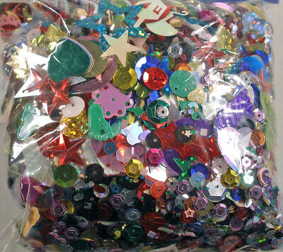 Sequins Loose Spangles Large Package ~4 ounces (110 grams)