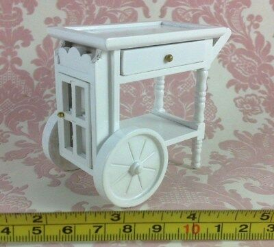 Miniature Dollhouse Dining Room Kitchen Wood Furniture Food Tray Cart 1:12