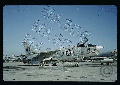 35mm Generic Aircraft Slide - F-8E Crusader BuNo 150329 VMF(AW)-232 in Nov 1967