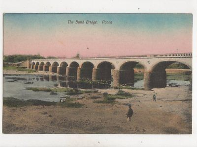 The Bund Bridge Poona India Vintage Postcard 340b