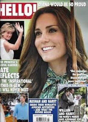 Uk Hello! Magazine 1498 - Kate Middleton  Diana Harry Megan Markhle 11/9/2017
