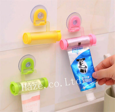 Tube Toothpaste Dispenser Rolling Squeezer Hook Holder Hanging Suction useful