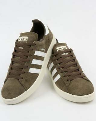 f666911f4758ea adidas Campus Trainers in Khaki Green   White suede retro vintage look SALE