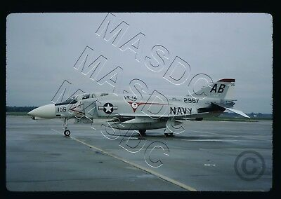 35mm Kodachrome Aircraft Slide - F-4N Phantom BuNo 152967 AB105 VF-14 - Aug 1967