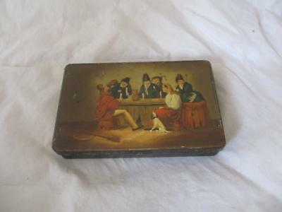 Handpainted Metal Toleware Tin Antique 19th Century. WNC02553