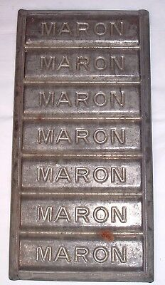 Antique or Vintage Maron Chocolate Bar Mold / Candy / Industrial