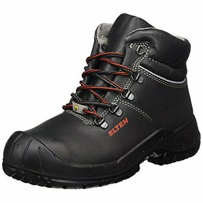 """Elten 1765841-39 Safety Boots """"Renzo Mid"""" ESD S3, Size 6, black/red"""
