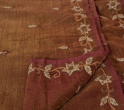 Sanskriti Vintage Indian Saree Art Silk Hand Beaded Woven Craft