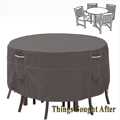 COVER for SMALL ROUND PATIO TABLE & CHAIR SET Outdoor Furniture Picnic RAVENNA