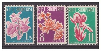 Albania  1961  -  Flowers    Mnh Set   **