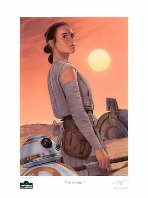Star Wars Celebration Europe 2016 Exclusive Art Show Print Rey & BB-8 #133/250