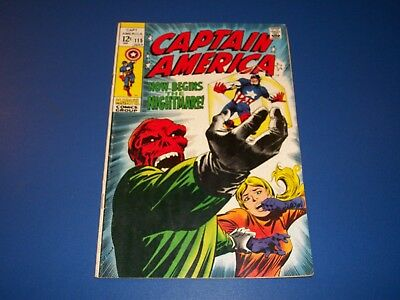 Captain America #115 Silver Age Red Skull Cosmic Cube Key Wow