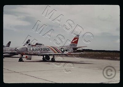 35mm Duplicate Aircraft Slide - F-86F Sabre 53-1111 - 388th FBW @ Cazaux AB 1955
