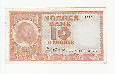 Norway 10 kroner 1973 circ. p31f @ low start