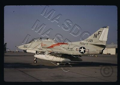 35mm Kodachrome Aircraft Slide - TA-4F Skyhawk BuNo 154321 NF322 VA-144 - Oct 68