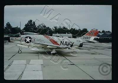 35mm Kodachrome Aircraft Slide - F3H-2 Demon BuNo 143487 VF-131 @ Andrews May 62