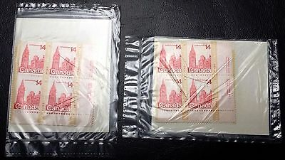 Lot of 2 Sets of 4 Canada Post 14 Cents Parliament Stamps - New Sealed