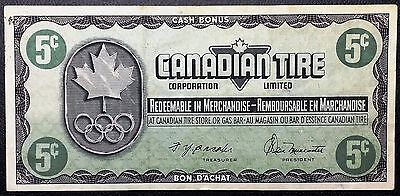 Vintage 1976 Canadian Tire 5 Cents Note - EF Condition - Free Combined S/H