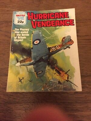 Battle Picture LIbrary,No1515, Hurricane Vengeance , Published 1982