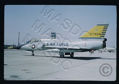 35mm Kodachrome Aircraft Slide - F-106B Delta Dart 57-2518 - 460th FIS @ EDW '69