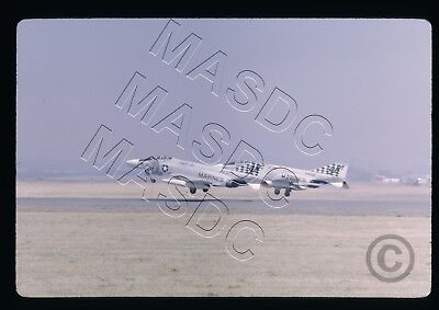 35mm Kodachrome Aircraft Slide - F-4B Phantom BuNo 148377 & 151422 VMFAT-101 '70