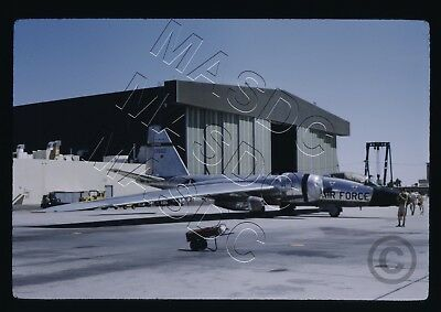 35mm Kodachrome Aircraft Slide - RB-57F Canberra 63-13502 WEATHER @ EDW May 1970