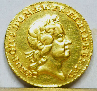 Great Britain Gold 1/4 Guinea 1718 Almost Uncirculated