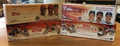 Lot Of Four Topps Baseball Complete Factory Sealed Set  - 2010, 2011, 2012, 2013