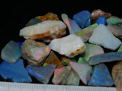 Quality Rough/Rubbed Opal Parcel 80cts LR/CP/Andamooka, Fires. Crystal/Seam NR