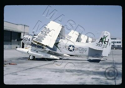 35mm Kodachrome Aircraft Slide - A-1H Skyraider BuNo 139702 AH504 VA-165 June 64