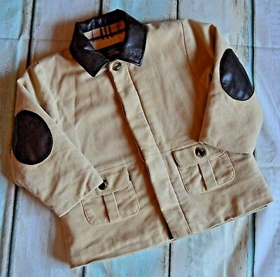 Baby Boys Designer Burberry Quilted Jacket 2 Years Good Condition